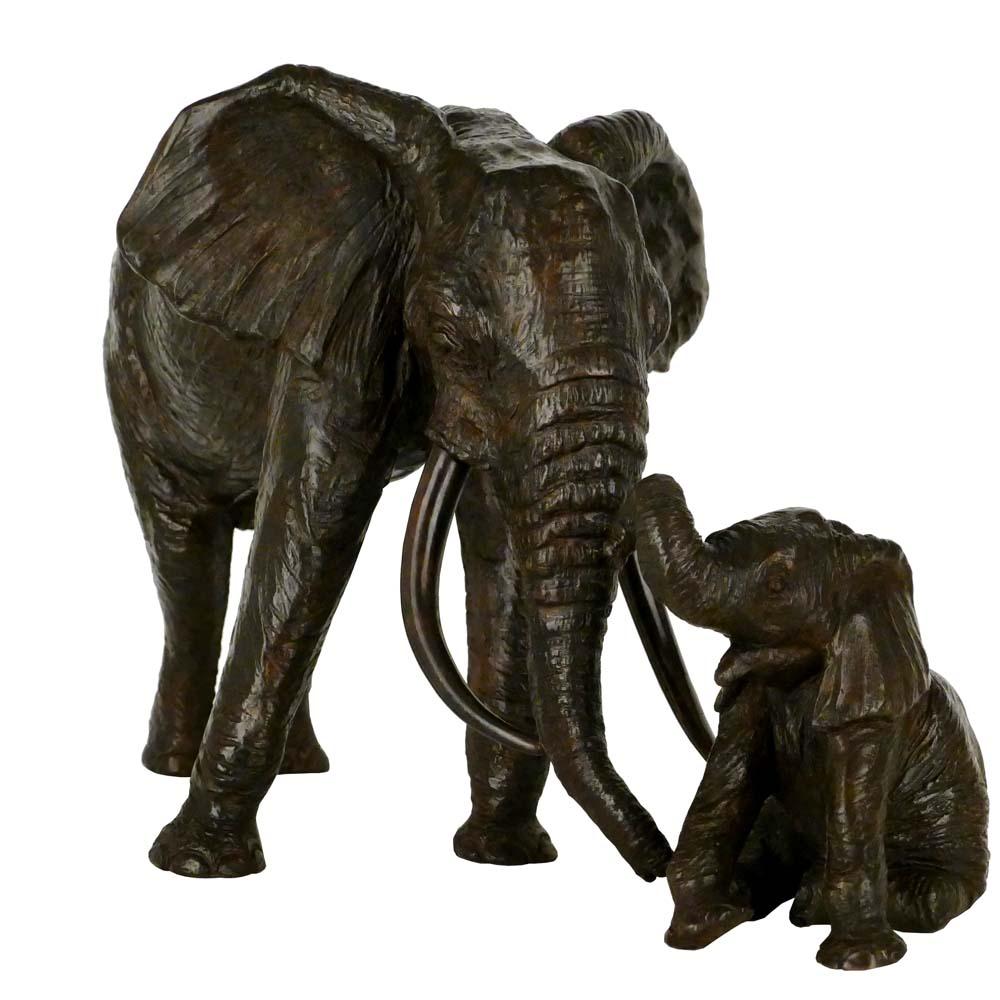 Éléphante et petit – D. Colcombet