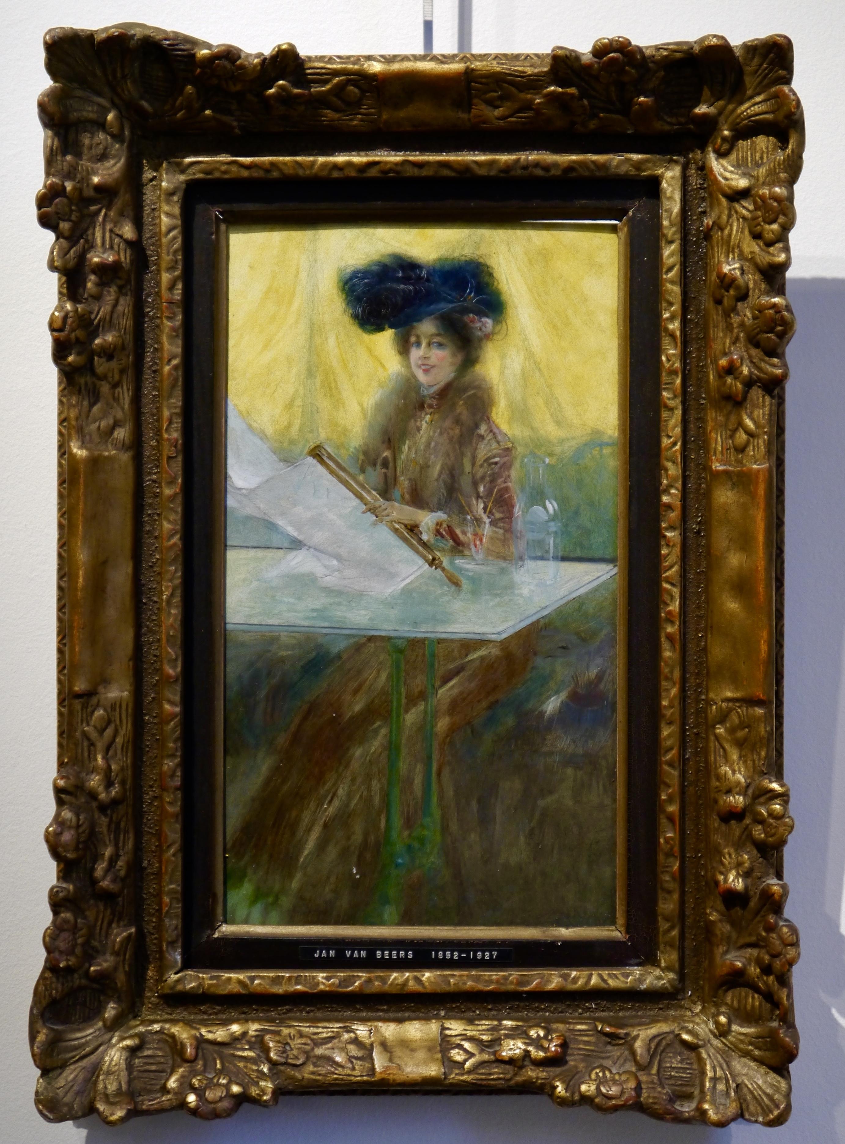 Jan Van Beers – Portrait de femme