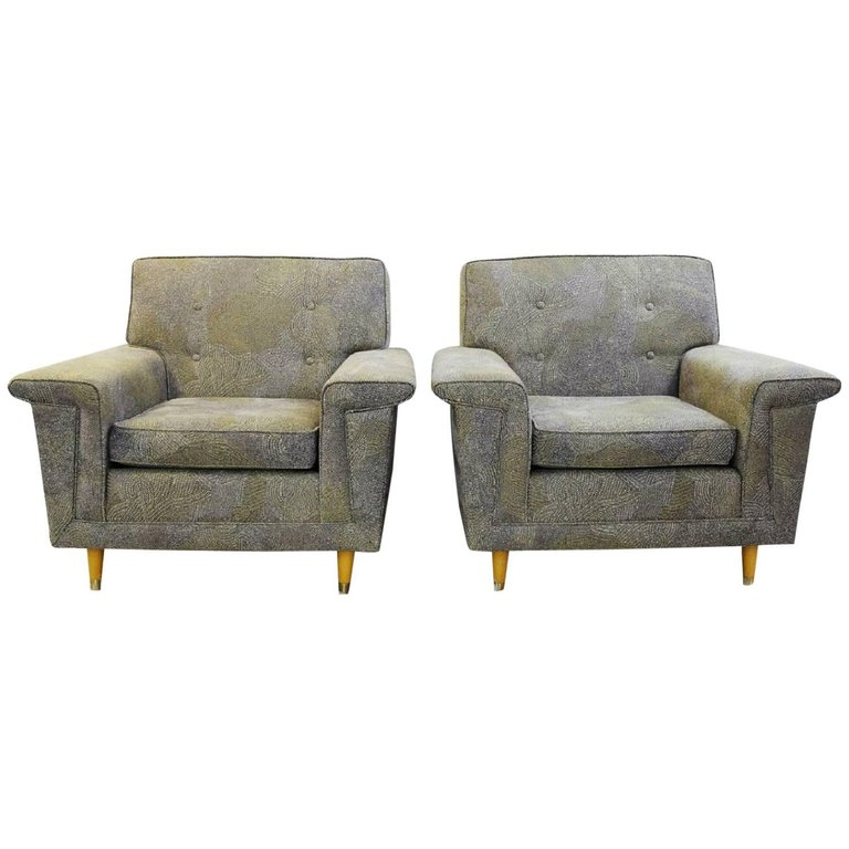 Paire de fauteuils Rowe